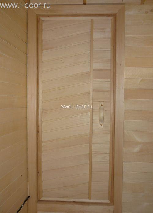 Установка деревянной двери в сауну